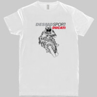 DesmoSport Ducati - On The Gas White Mens Tee