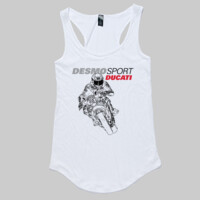DesmoSport Ducati - On The Gas Ladies Singlet White